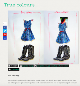 blog little green dress true colours grijs haar verven